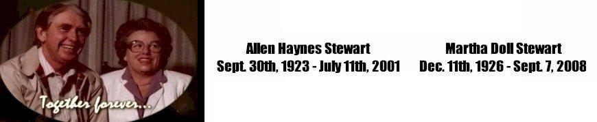 Allen Haynes Stewart & Martha Doll Stewart